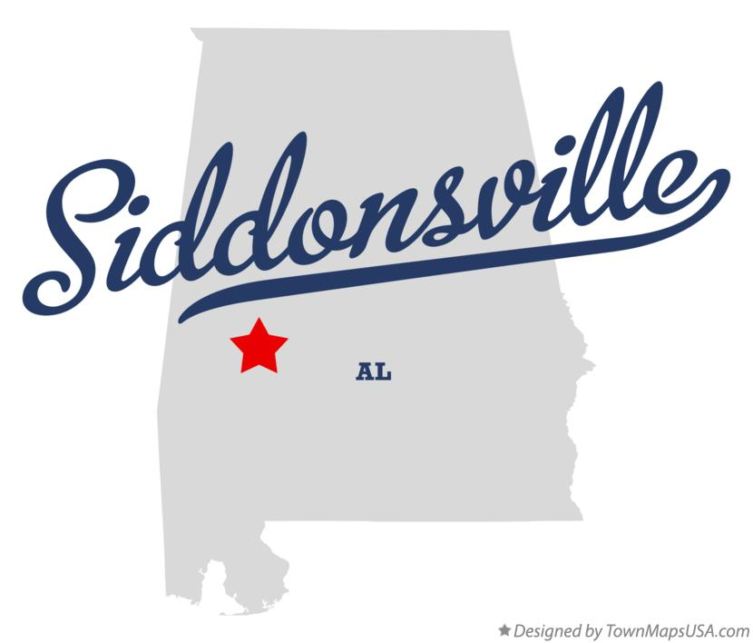 Map of Siddonsville Alabama AL