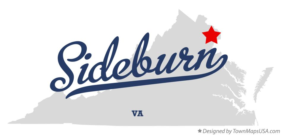 Map of Sideburn Virginia VA