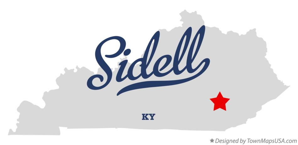 Map of Sidell Kentucky KY