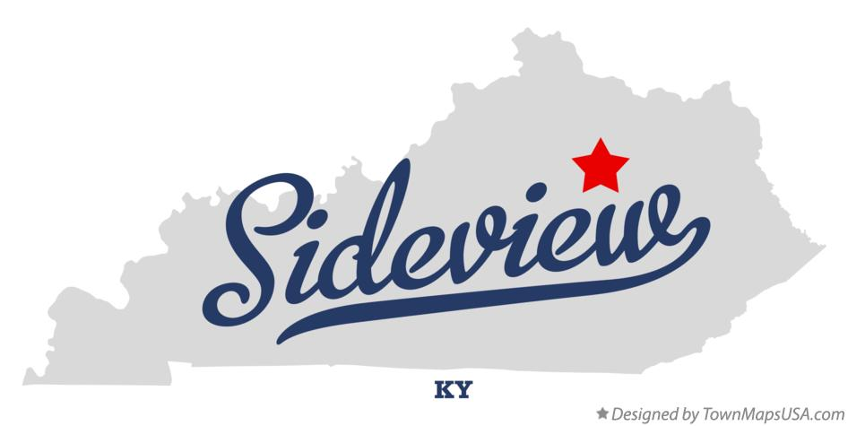 Map of Sideview Kentucky KY