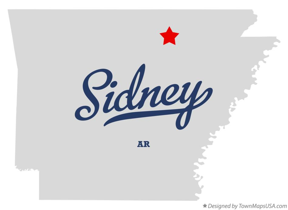 Map of Sidney Arkansas AR