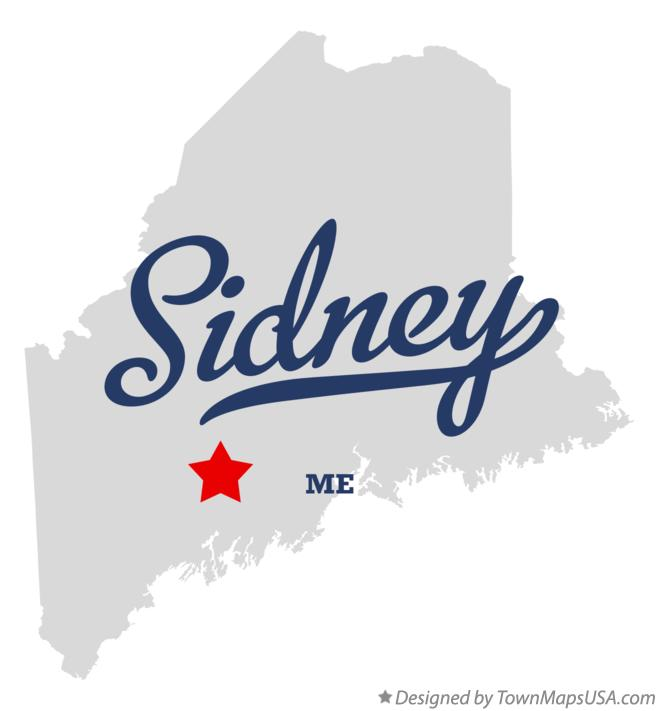Map of Sidney Maine ME