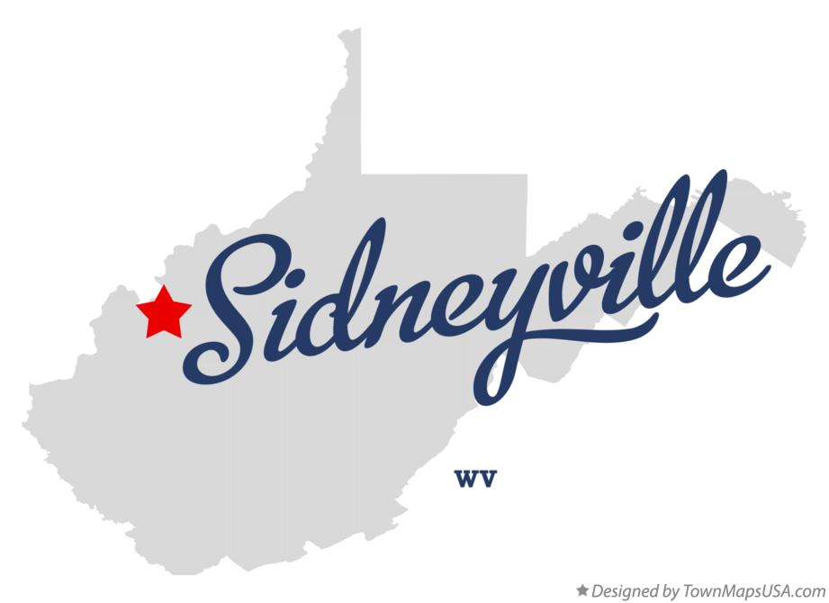 Map of Sidneyville West Virginia WV