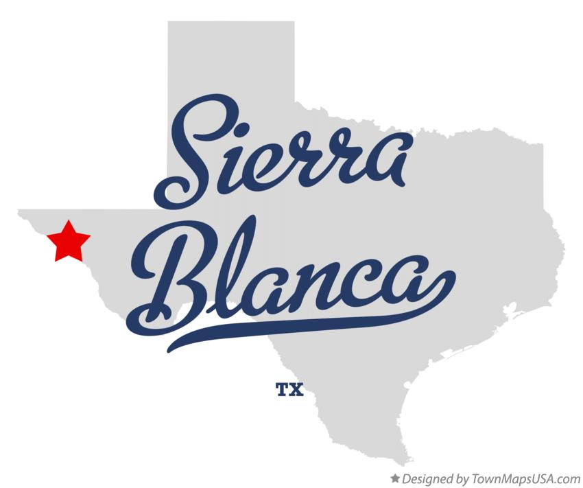 Map of Sierra Blanca Texas TX