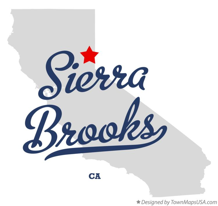 Map of Sierra Brooks California CA
