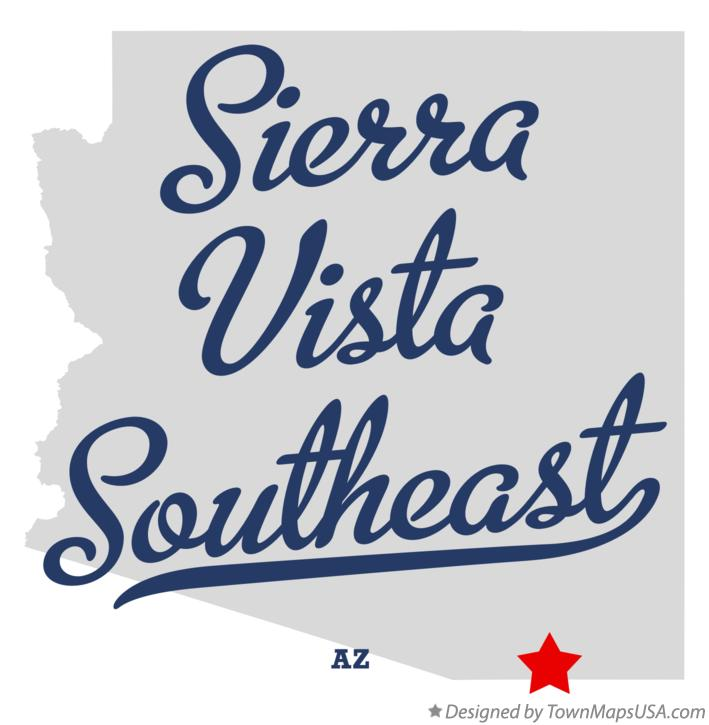 Map of Sierra Vista Southeast Arizona AZ