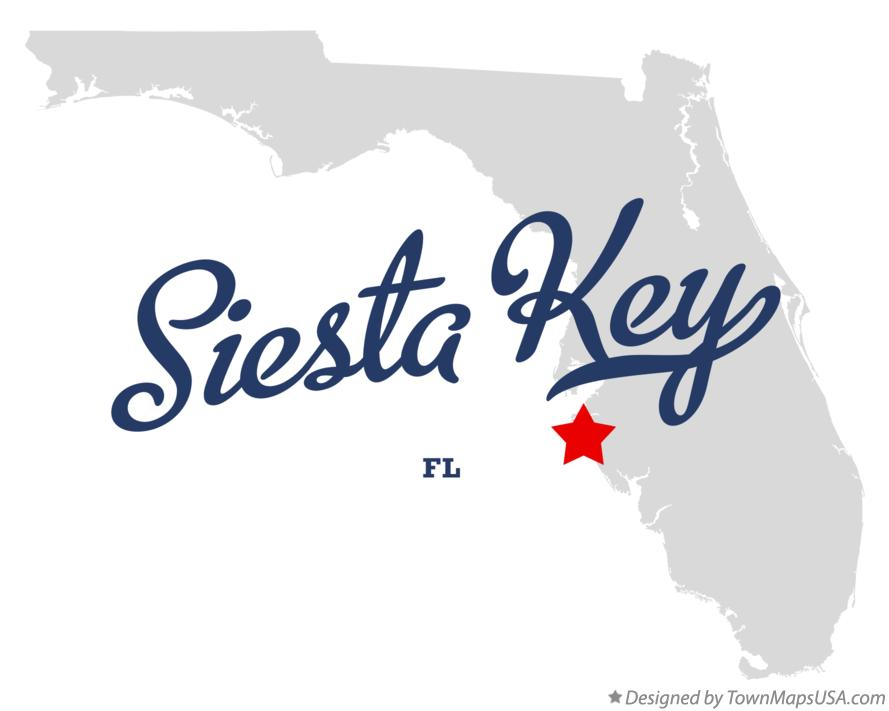 Map Of Siesta Key Fl Florida