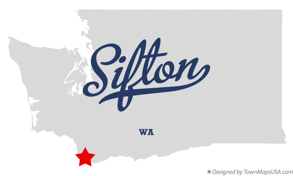 Map of Sifton Washington WA