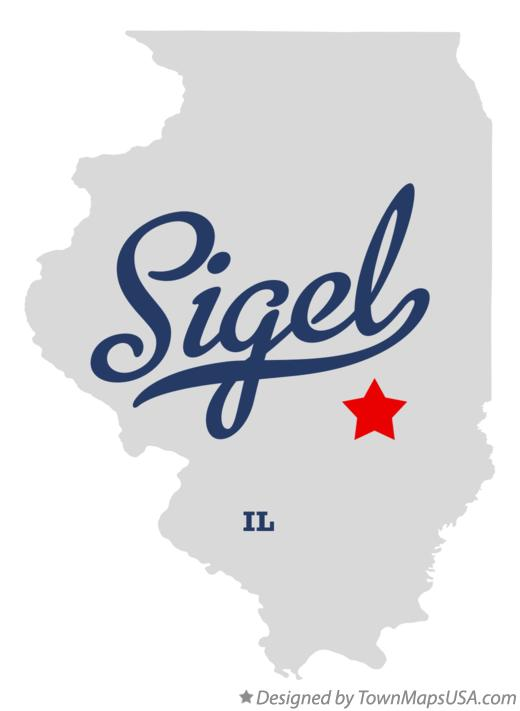 Map of Sigel Illinois IL