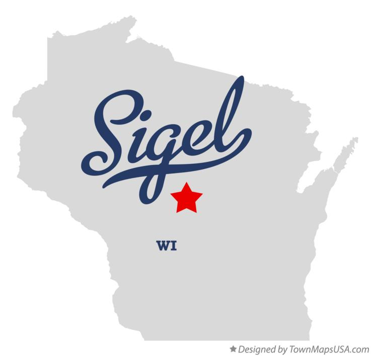 Map of Sigel Wisconsin WI