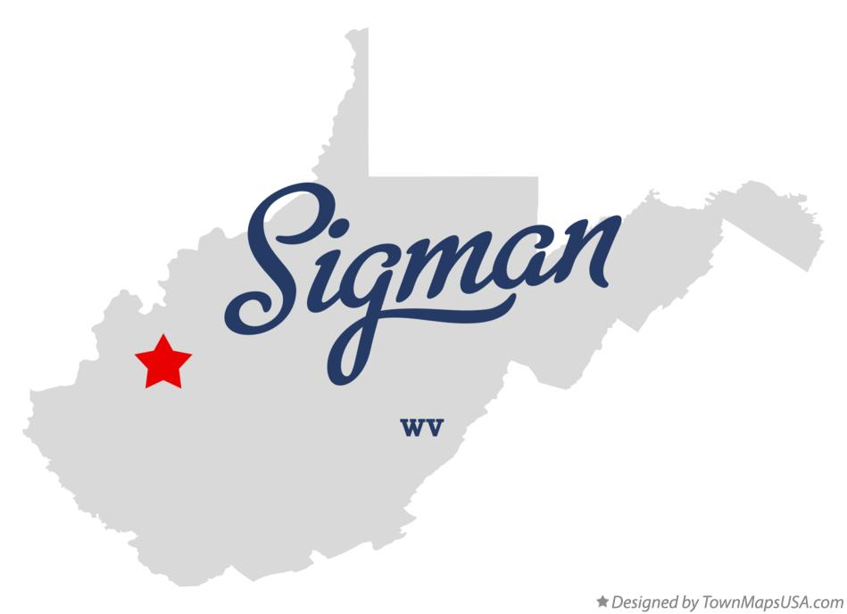 Map of Sigman West Virginia WV