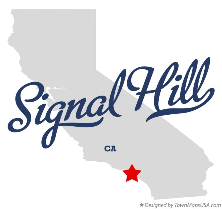 Map of Signal Hill California CA
