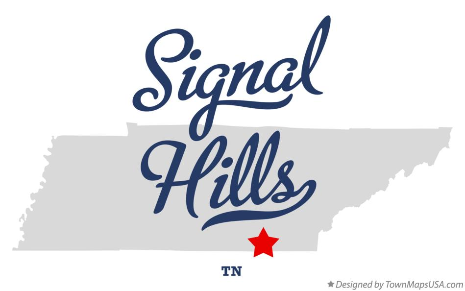 Map of Signal Hills Tennessee TN