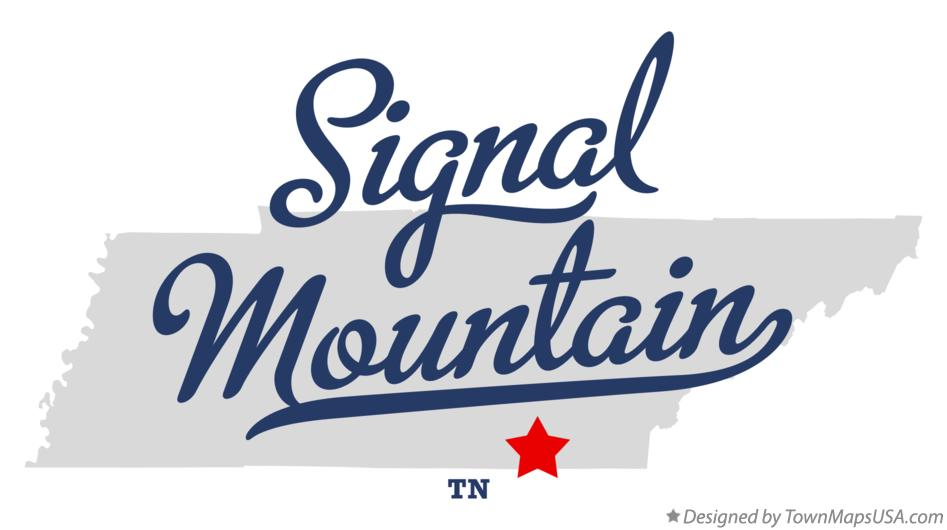 Map of Signal Mountain Tennessee TN