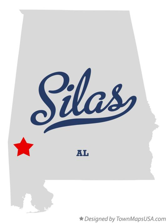 Map of Silas Alabama AL