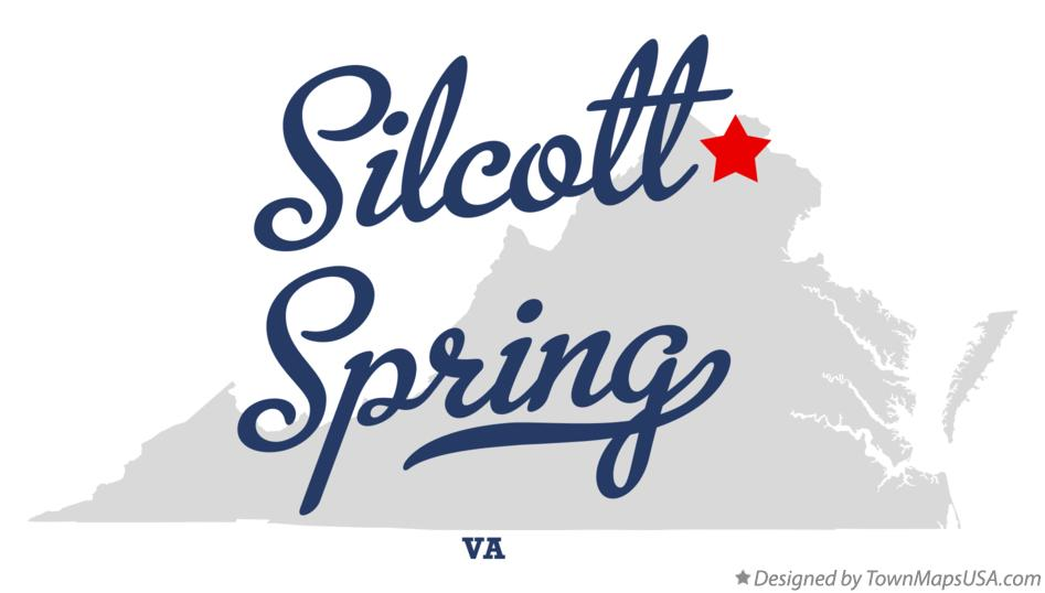 Map of Silcott Spring Virginia VA