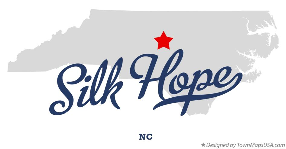 Map of Silk Hope North Carolina NC