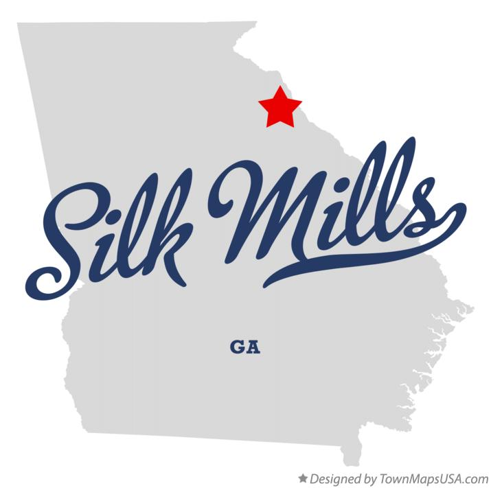 Map of Silk Mills Georgia GA