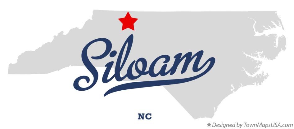 Map of Siloam North Carolina NC