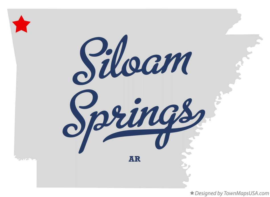 Map of Siloam Springs Arkansas AR