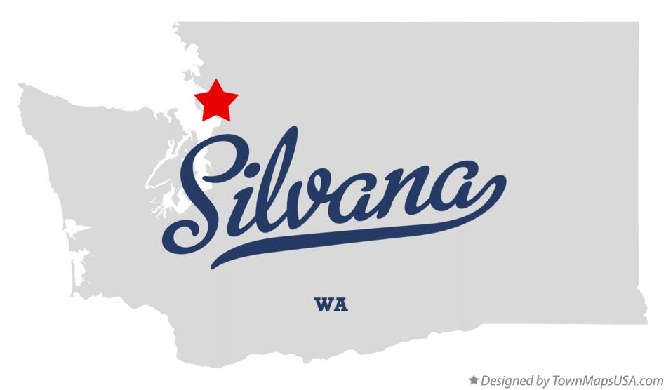 Map of Silvana Washington WA