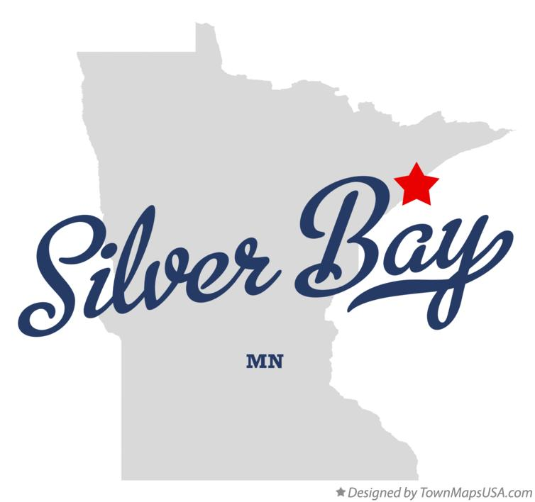 Map of Silver Bay Minnesota MN