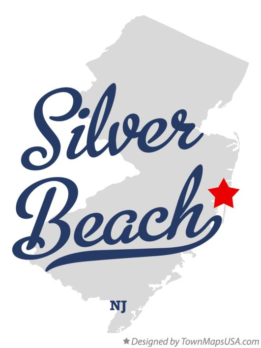 Map of Silver Beach New Jersey NJ