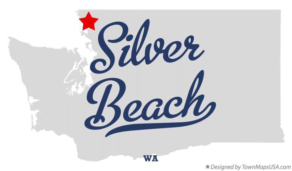Map of Silver Beach Washington WA