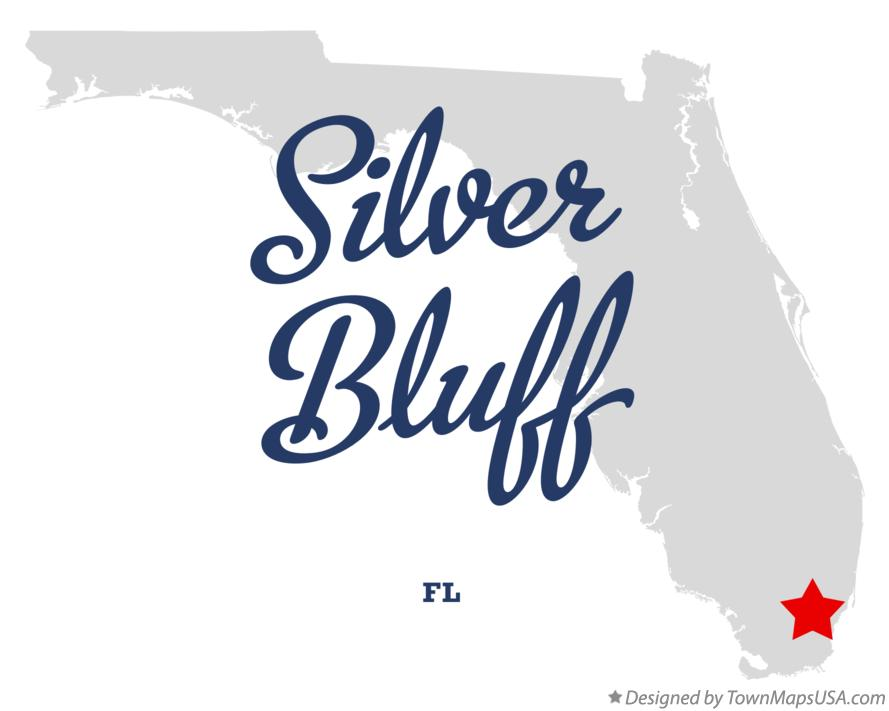 Map of Silver Bluff Florida FL