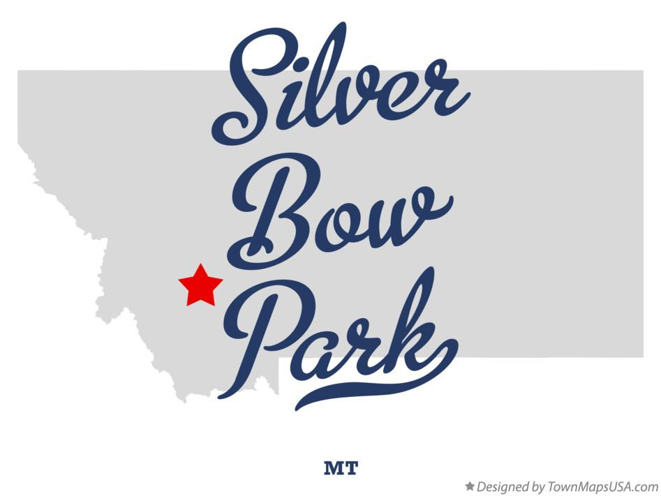 Map of Silver Bow Park Montana MT