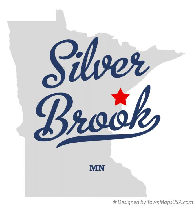 Map of Silver Brook Minnesota MN