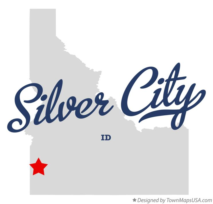 Map of Silver City Idaho ID