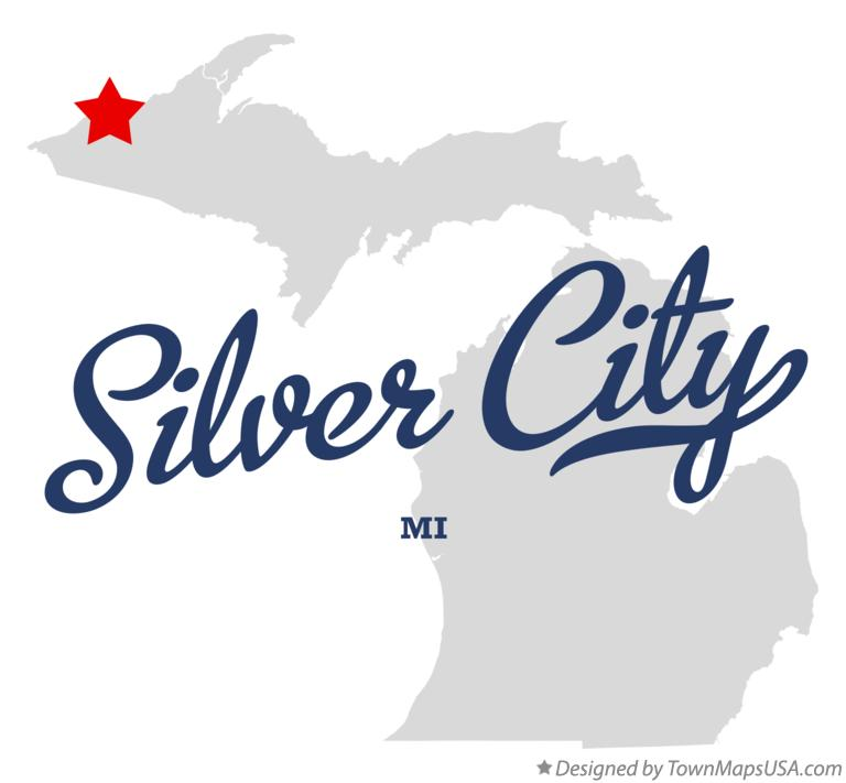 Map of Silver City Michigan MI