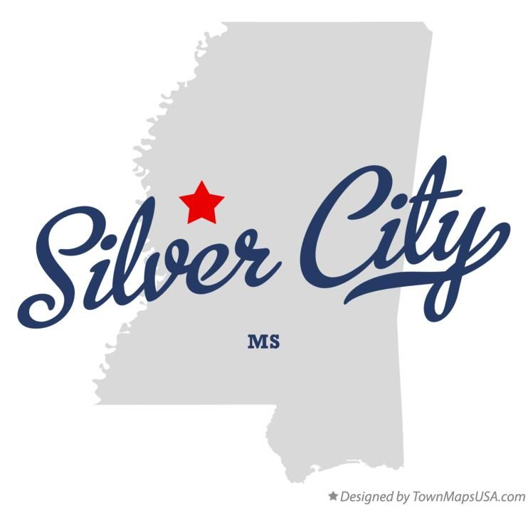 Map of Silver City Mississippi MS
