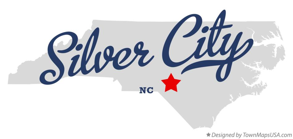 Map of Silver City North Carolina NC