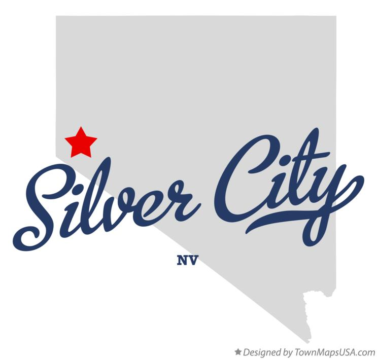 Map of Silver City Nevada NV