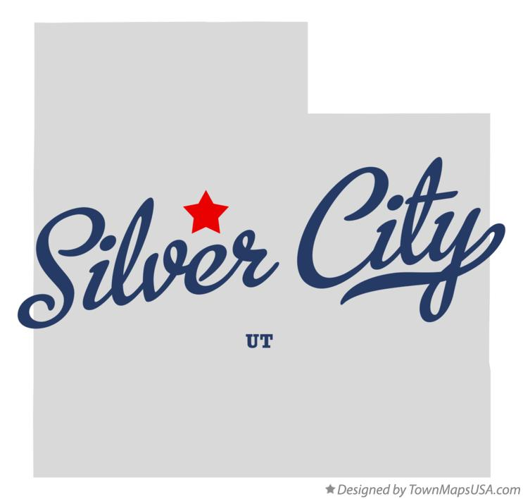 Map of Silver City Utah UT