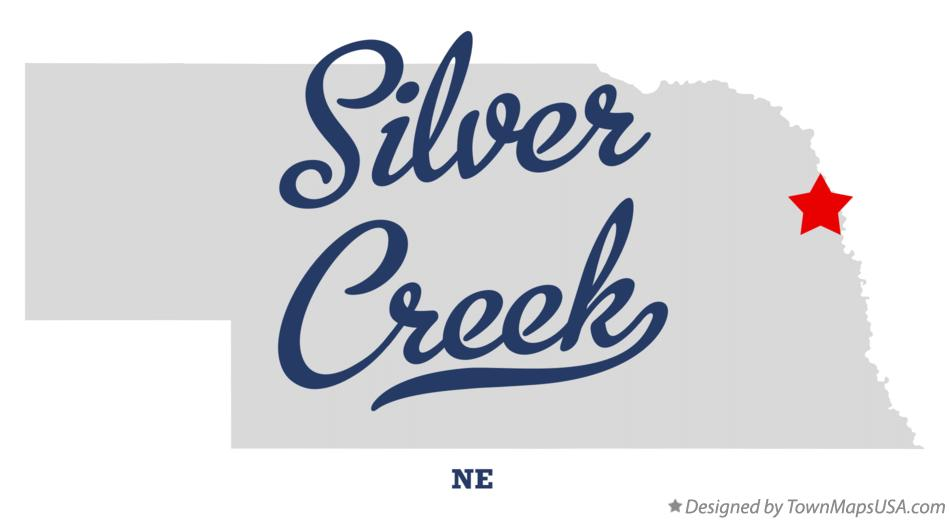Map of Silver Creek Nebraska NE