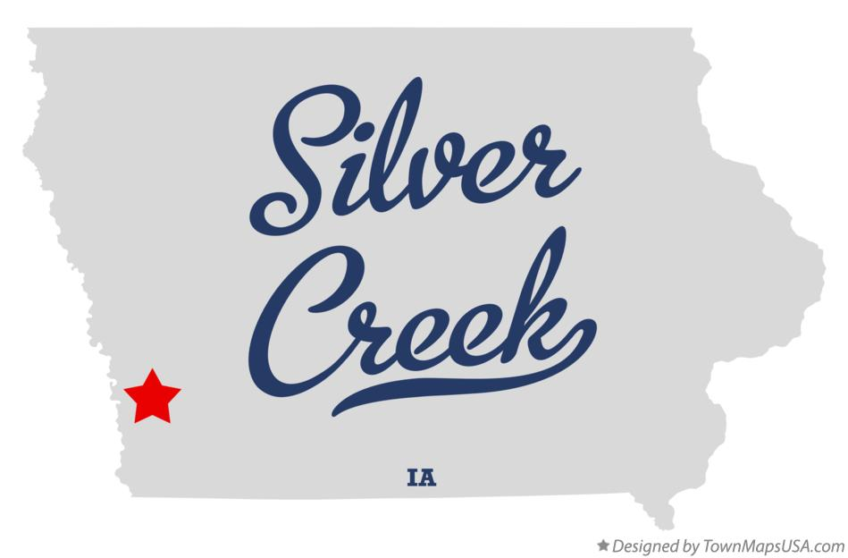 Map of Silver Creek Iowa IA