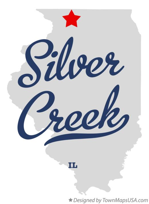Map of Silver Creek Illinois IL