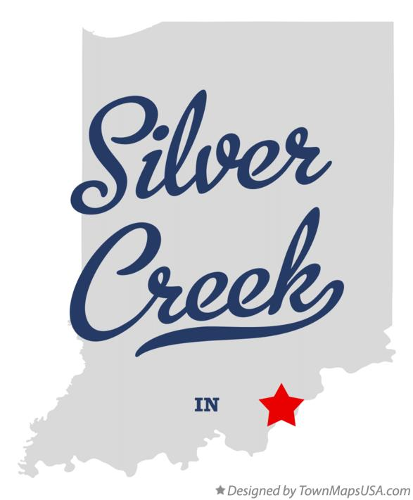 Map of Silver Creek Indiana IN