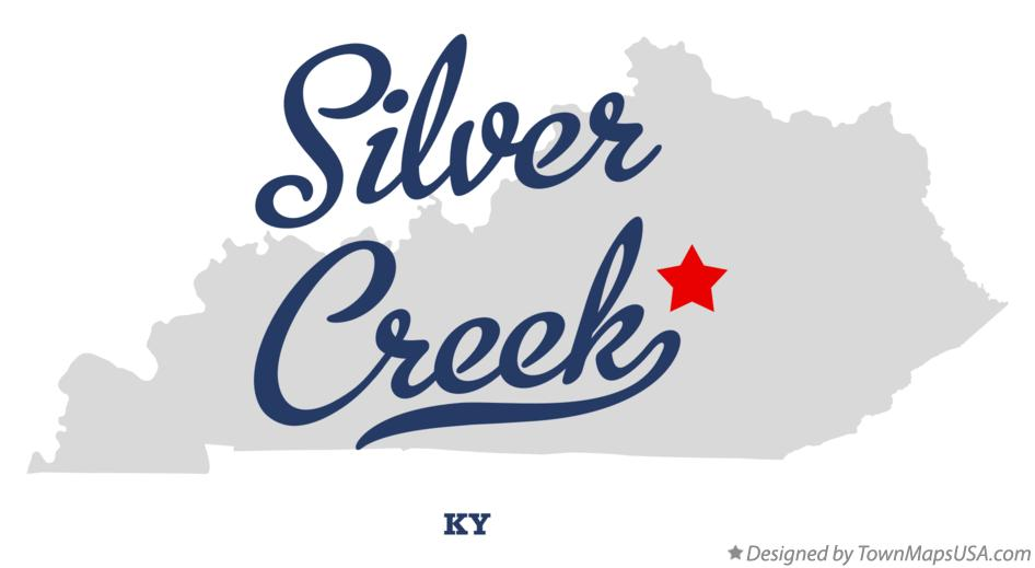 Map of Silver Creek Kentucky KY
