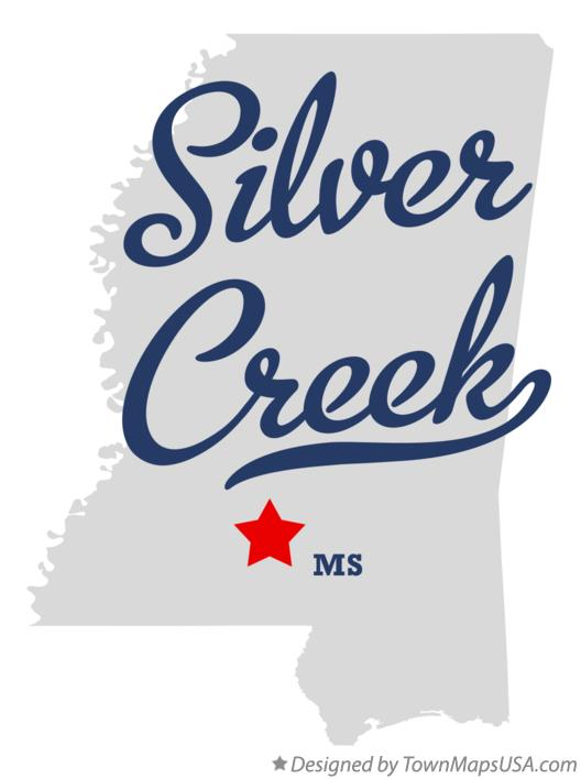 Map of Silver Creek Mississippi MS
