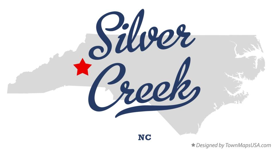 Map of Silver Creek North Carolina NC