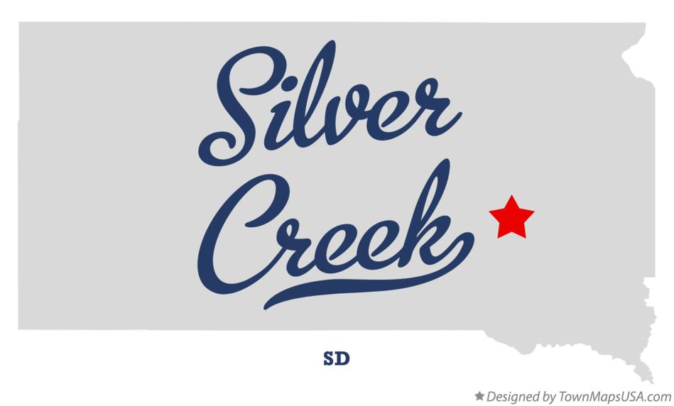 Map of Silver Creek South Dakota SD