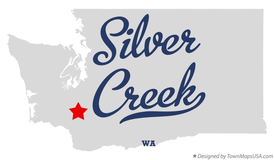 Map of Silver Creek Washington WA