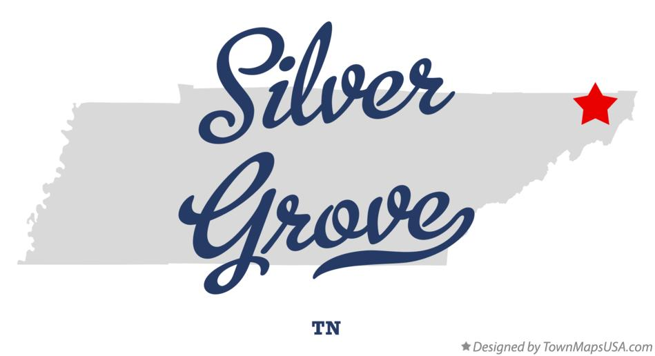 Map of Silver Grove Tennessee TN