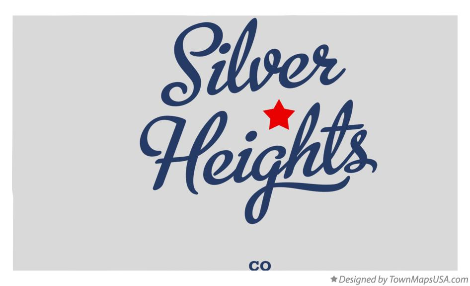 Map of Silver Heights Colorado CO