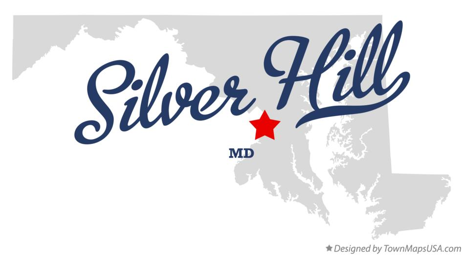 Map of Silver Hill Maryland MD