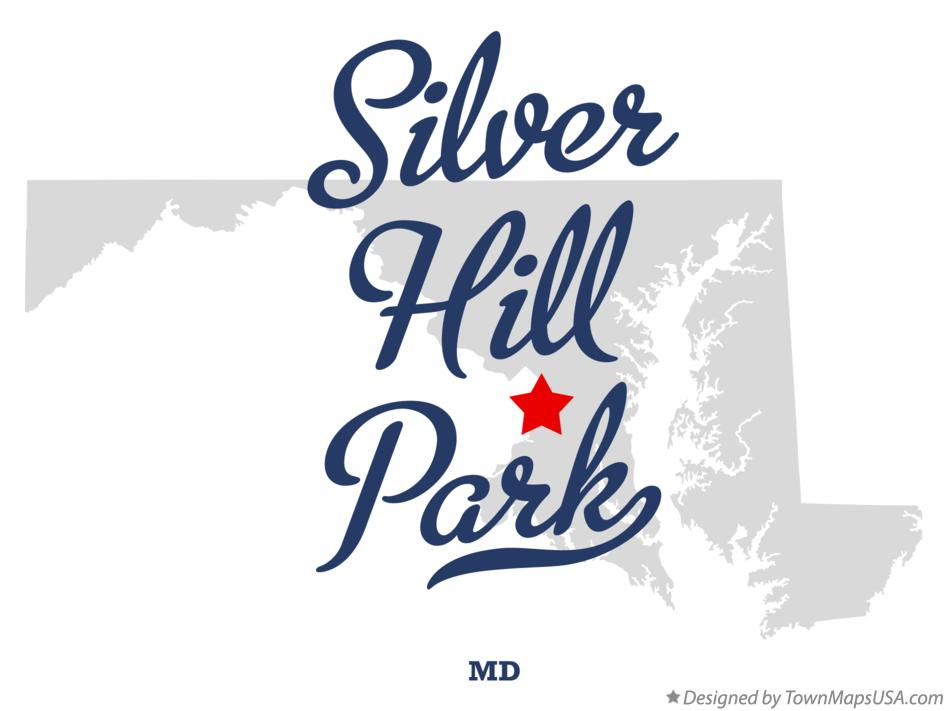Map of Silver Hill Park Maryland MD